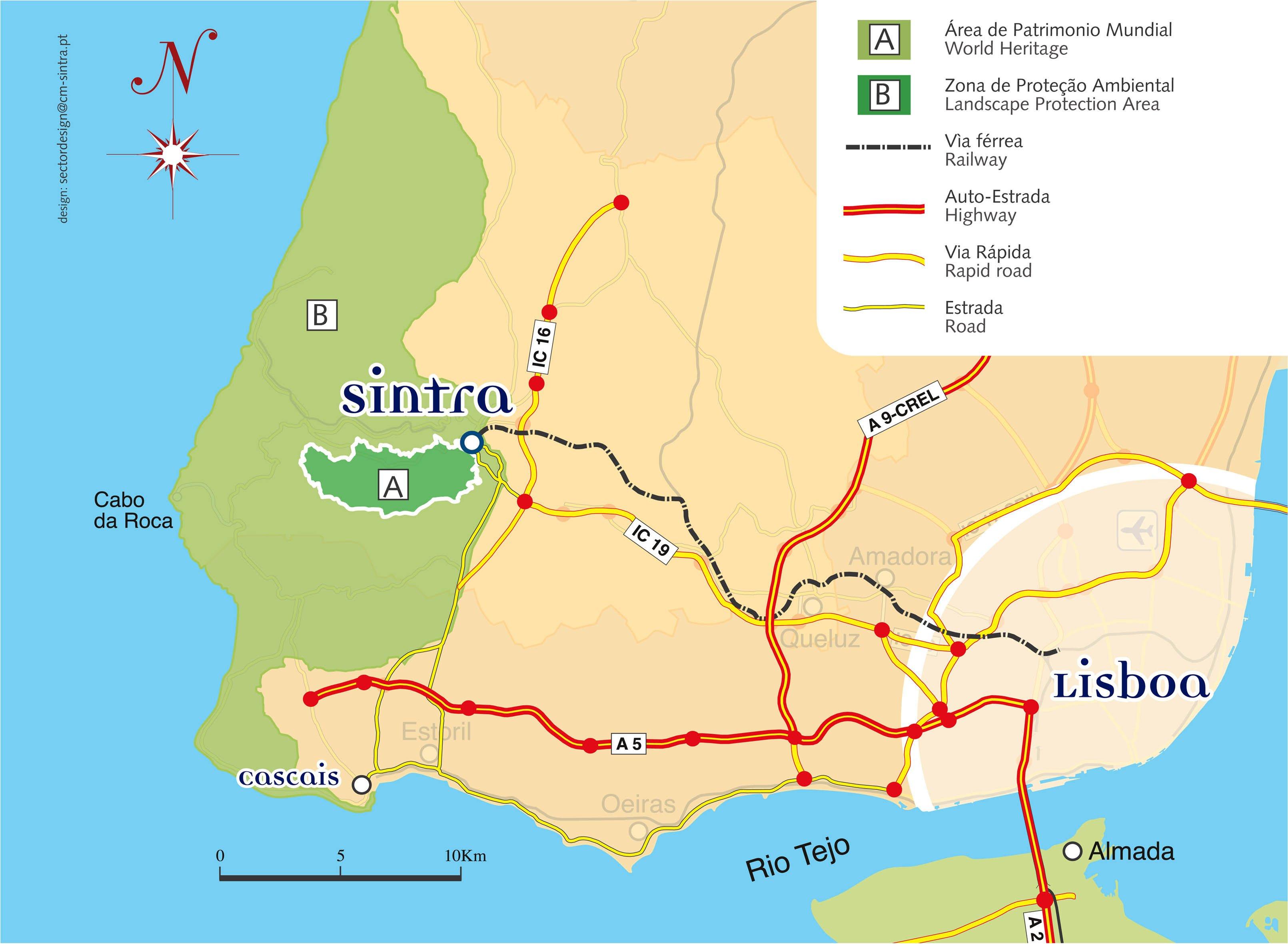 mapa de lisboa sintra Património Mundial   PATRIMONIO   Câmara Municipal de Sintra mapa de lisboa sintra
